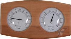 Teploměr s vlhkoměrem - dvojitý, cedrové dřevo