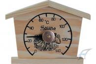Dřevěný teploměr - domeček