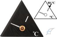 Teploměr do sauny trojúhelník, černý